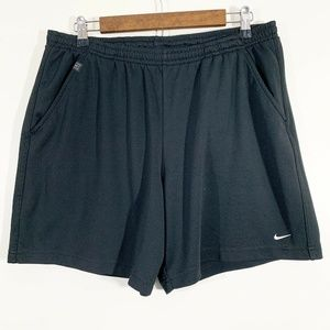 Nike Dri Fit Solid Black Athletic Workout Shorts